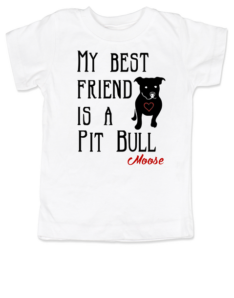 kids Best Friend, Love-a-bull toddler shirt, personalized dog lover toddler shirt, cute pit bull kid clothes, badass dog toddler shirt, I love my pit bull toddler shirt, pit bull best friend toddler shirt, personalized
