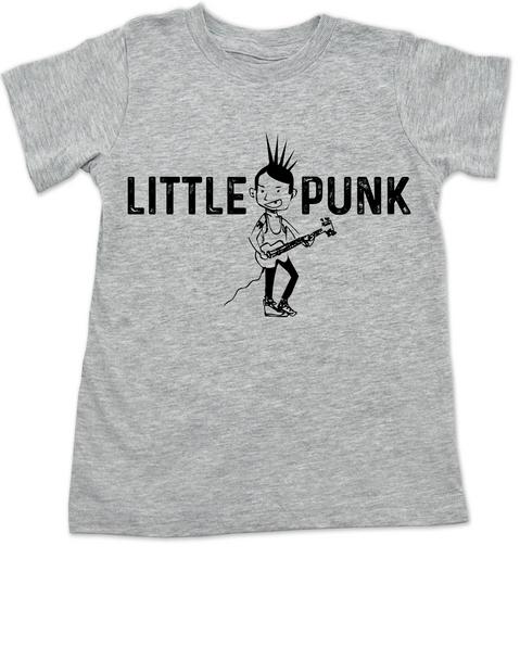 Little Punk toddler shirt, Punk Rock kid t-shirt, Little Rocker toddler shirt, Punk Rock Kid Shirt, Cool little boy gift, Rocker littler girl gift, Punk Rock Parents, Little Punk kid shirt, grey