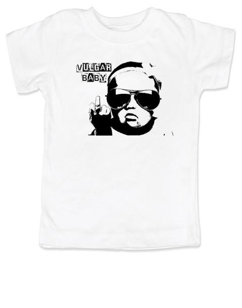 Vulgar baby Logo toddler shirt, Badass toddler, kid with middle finger, vulgar baby toddler shirt, badass toddler t-shirt