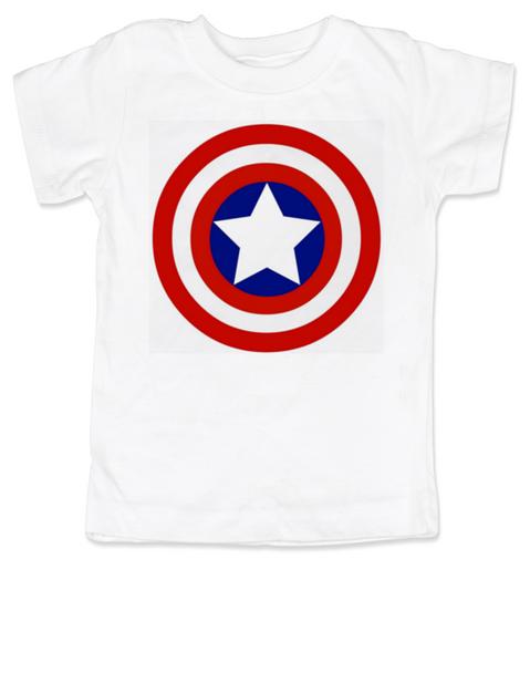 Captain Adorable toddler shirt, Captain America, Superhero toddler t-shirt, comic book kid t shirt, Avengers, Marvel toddler shirt, Patriotic kid clothes, white