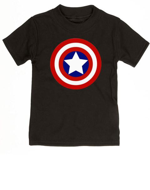 Captain Adorable toddler shirt, Captain America, Superhero toddler t-shirt, comic book kid t shirt, Avengers, Marvel toddler shirt, Patriotic kid clothes, black