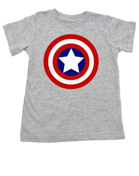 Captain Adorable toddler shirt, Captain America, Superhero toddler t-shirt, comic book kid t shirt, Avengers, Marvel toddler shirt, Patriotic kid clothes, grey