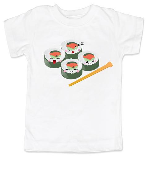 Sushi toddler shirt, chop sticks kid shirt, California roll toddler t-shirt, cute sushi kid t-shirt, Toddler Sushi Shirt