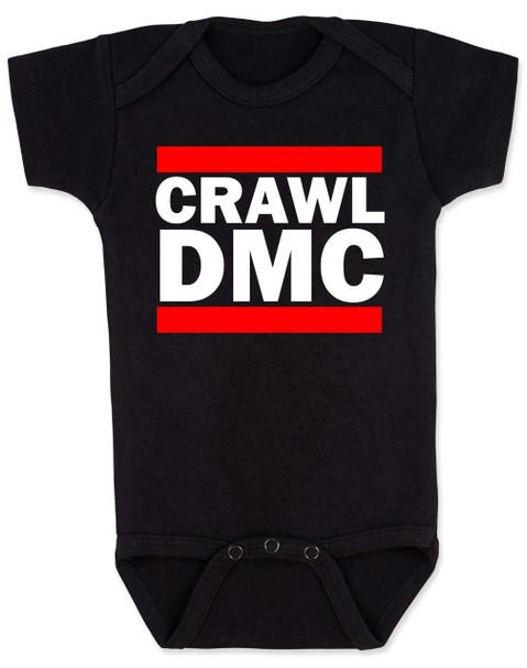 Crawl DMC baby Bodysuit, Run DMC baby clothes, black