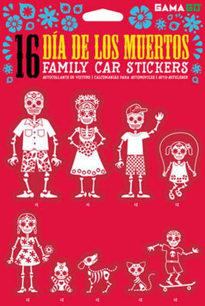 Day of the dead stickers, dia de los muertos family stickers, skeleton family stickers, family car stickers, sugar skulls, day of the dead gift for new parents, dia de los muertos baby gift
