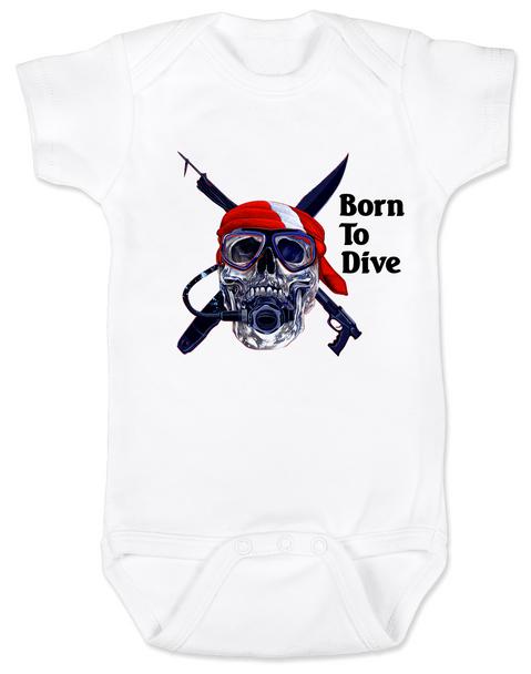 scuba diver Bodysuit whitediver skull Bodysuit whitescuba Bodysuit whitediving baby Bodysuit whitescuba diver skull Baby bodysuit whiteUnique  baby clothing