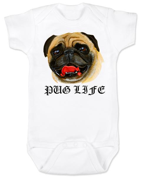 Pug Life baby BodysuitPug Love BodysuitPug Bodysuitpersonalized dog lover Bodysuitunique baby shower giftcute pug baby clothesbadass baby clothesbadass dog Bodysuit