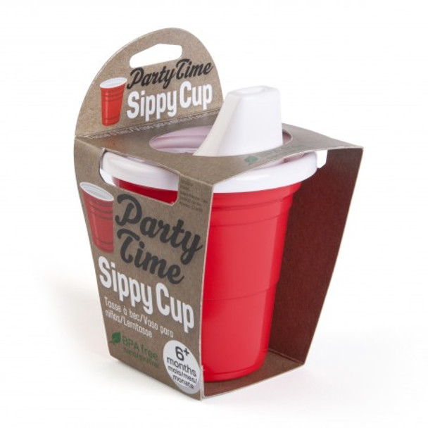 Party time red solo cup Sippy Cup, Party people baby shower gift set, party parents baby gift