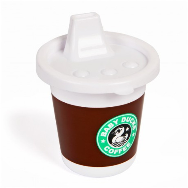 Gamago Rise and shine sippy cup, funny starbucks sippy cup, novelty sippy cup, fake coffee cup for baby