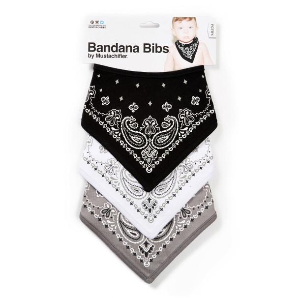 FCTRY Mustachifier Bandana bibs, Hip Hop baby gift set