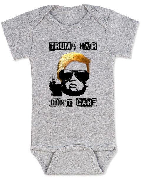 Donald Trump hair baby, Political baby Bodysuit, Make my diaper great again, Make America Great Again baby Bodysuit, 2016 Election baby Bodysuit, Political baby clothes, Future Republican, grey