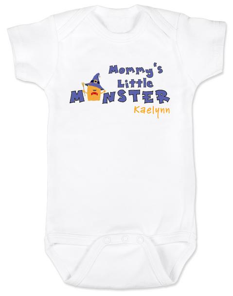 Mommy's Little Monster Personalized Baby Halloween Bodysuit