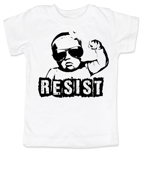 Resist toddler shirt, protest toddler shirt, protest toddler shirt, , funny political baby clothes, baby protester, anti-trump baby gift, white
