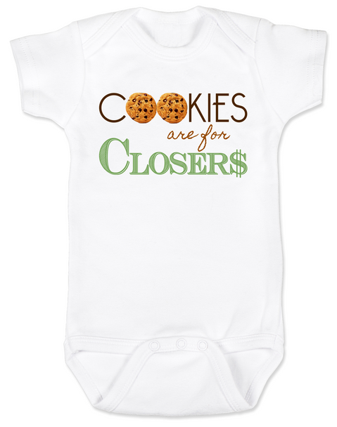 Cookies are for closers baby Bodysuit, Boss Baby Bodysuit, funny boss baby gift