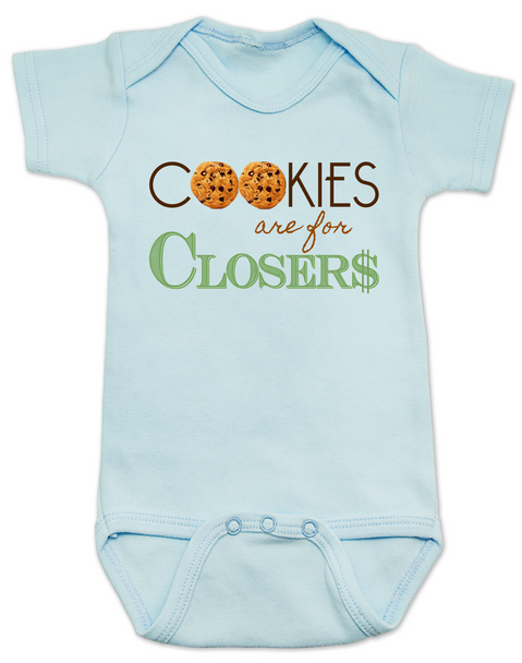 Cookies are for closers baby Bodysuit, Boss Baby Bodysuit, funny boss baby gift, blue