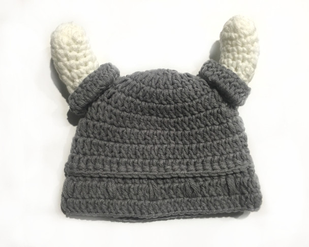 Crochet Viking Hat, Baby crochet viking hat, Tiny Viking, Future viking hat, my daddy is a viking