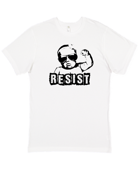 Resist adult shirt, vulgar baby adult shirt, protest baby, Resist shirt, funny political clothes for new parents, baby protester, mens