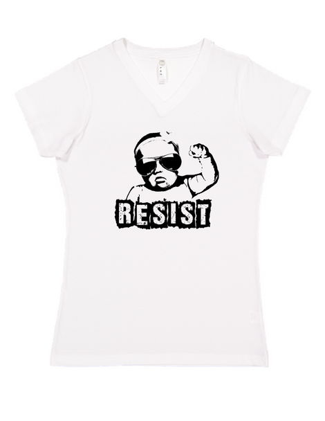 Resist adult shirt, vulgar baby adult shirt, protest baby, Resist shirt, funny political clothes for new parents, baby protester, womens