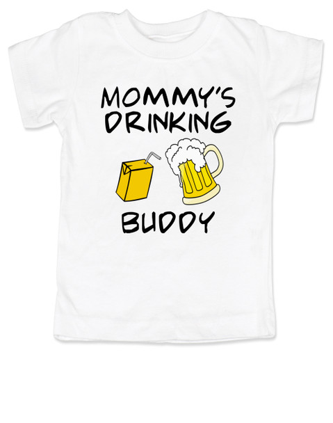 Mommy's drinking buddy, Drinking buddies Mother and child, Mom's drinking buddy toddler shirt, beer and juice box, Mom's best friend, drinking with mommy, Mommy drinking buddy kid shirt, toddler gift for beer drinking parents, funny beer toddler t-shirt