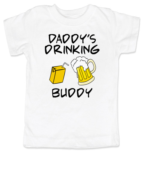 Daddy's drinking buddy, Drinking buddies father and child, Dad's drinking buddy toddler shirt, beer and juice box, Dad's best friend, drinking with daddy, daddy drinking buddy kid shirt, toddler gift for beer drinking parents, funny beer toddler t-shirt