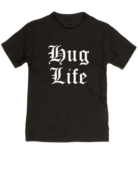 Hug Life toddler shirt, black