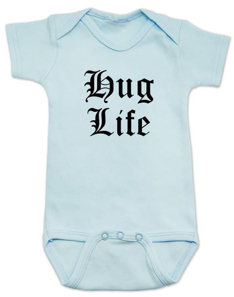Hug Life gangsta baby Bodysuit, blue