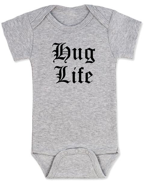 Hug Life gangsta baby Bodysuit, grey
