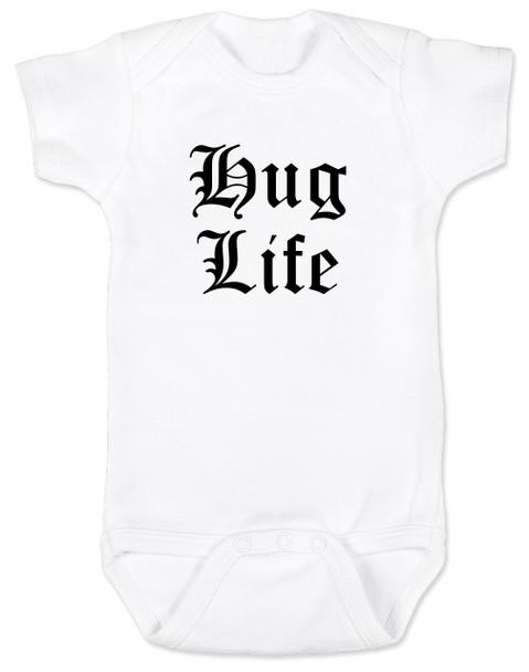 Hug Life gangsta baby Bodysuit, white