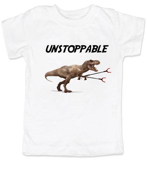 Unstoppable gift set, unstoppable t-rex toddler shirt