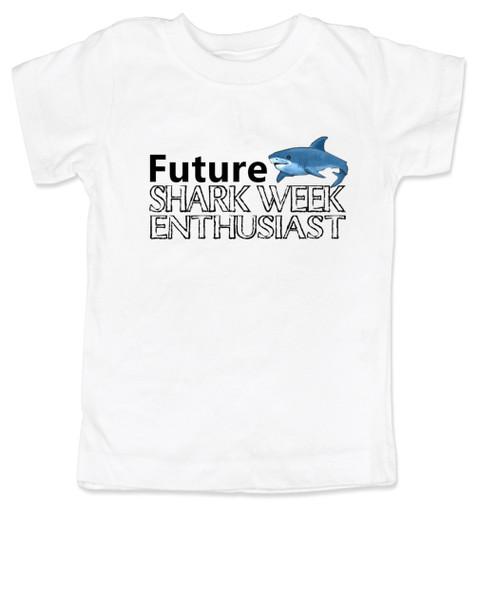Shark Week toddler shirt, Future Shark Week Enthusiast, Little ocean enthusiast, Ocean baby toddler gift, Future shark lover, shark week kid shirt