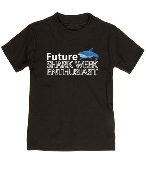 Shark Week toddler shirt, Future Shark Week Enthusiast, Little ocean enthusiast, Ocean baby toddler gift, Future shark lover, shark week kid shirt, black