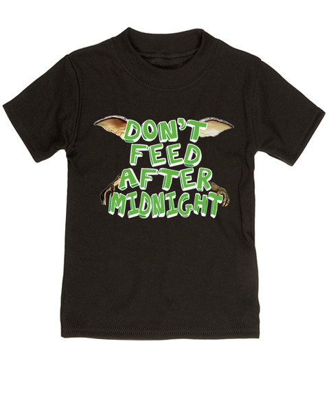 Don't feed after midnight, gremlins toddler shirt, gremlins movie kid shirt, 80's movie toddler gift, mogwai, gizmo, black