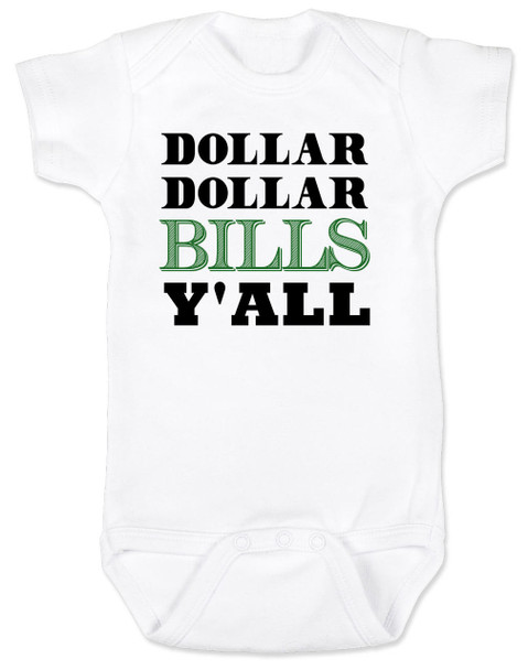 Wu-tang baby Bodysuit, money baby Bodysuit, dollar dollar bills ya'll, future money maker, hip hop baby Bodysuit