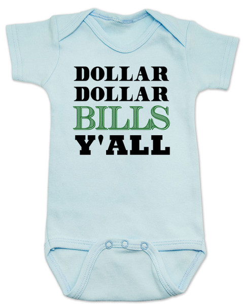 Wu-tang baby Bodysuit, money baby Bodysuit, dollar dollar bills ya'll, future money maker, hip hop baby Bodysuit, blue