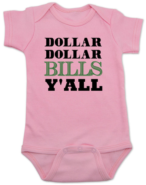 Wu-tang baby Bodysuit, money baby Bodysuit, dollar dollar bills ya'll, future money maker, hip hop baby Bodysuit, pink