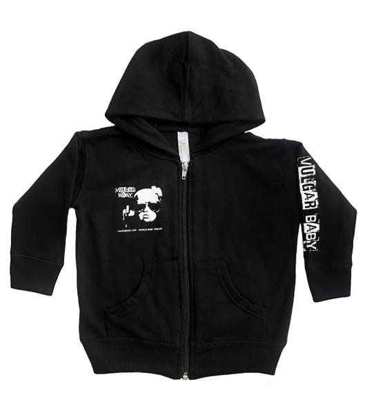 Vulgar Baby Hoodie, Vulgar Baby brand, Vulgar Baby logo jacket, Cool baby hoodie, cool toddler hoodie, badass baby, VB hoodie