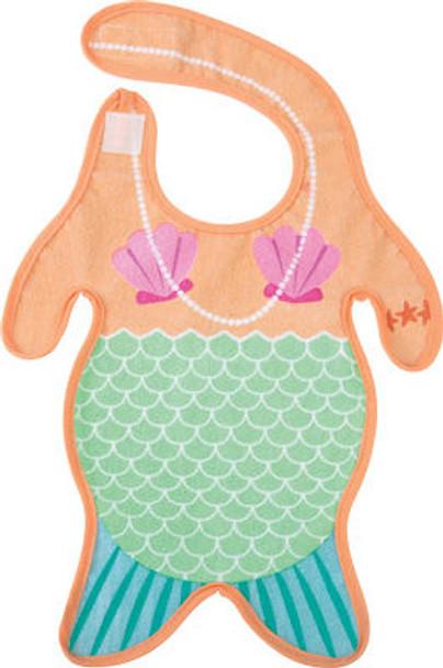 Mermaid baby bib, funny mermaid bib, mermaid body baby bib, baby mermaid, under the sea baby gift, novelty baby girl gift, little mermaid baby bib, merbaby bib, cool baby gift for girl, merbaby gift