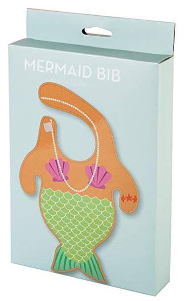 Mermaid baby bib, funny mermaid bib, mermaid body baby bib, baby mermaid, under the sea baby gift, novelty baby girl gift, little mermaid baby bib, merbaby bib, cool baby gift for girl, merbaby gift, mermaid bib in box