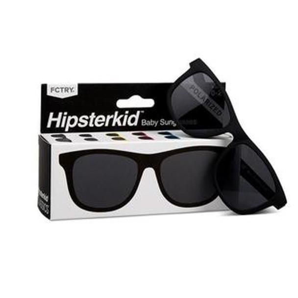 Hipster classics black sunglasses, toddler sunglasses, baby sunglasses, pink sunglasses, retro baby sunglasses, cool kids sunglasses front with box