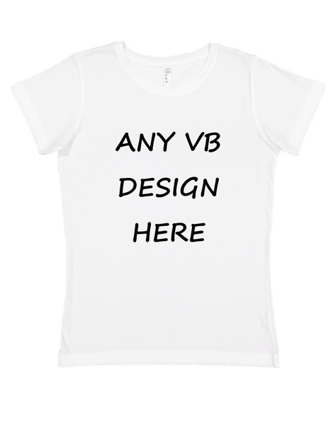 Put any vulgar baby design on an adult shirt, womens white t-shirt