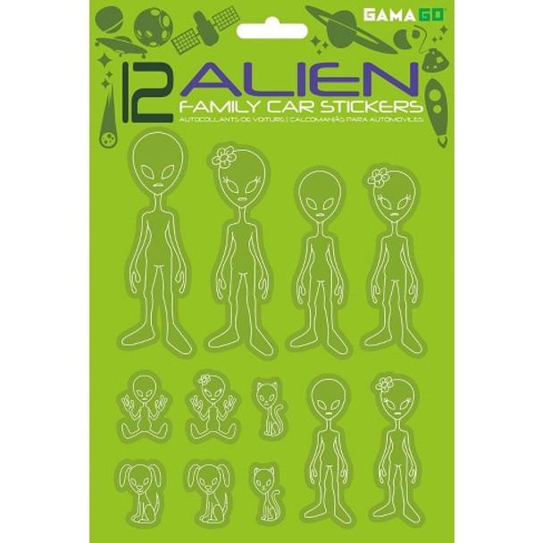 Alien family car stickers, extraterrestrial family, I believe Aliens, fun alien gift, UFO believer car sticker, Alien family