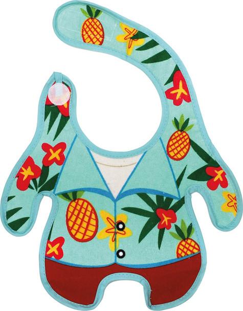 Hawaiian Shirt Baby Bib, Funny baby bib, Aloha baby, Hawaiian shirt on baby, novelty baby bib, summer baby gift, pineapple baby bib, summer baby bib, cool kids bib