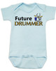 Future Drummer Baby Bodysuit, Musician baby onsie, Drummer like daddy, rock and roll music, band Bodysuit, personalized drummer baby Bodysuit, blue
