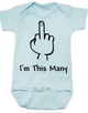 I'm This Many Baby Bodysuit, middle finger onsie, funny first birthday Bodysuit, personalized birthday Bodysuit, flipping the bird, I'm one baby bodysuit, blue