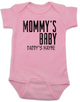 Mommy's Baby, Daddy's maybe, Redneck Baby Bodysuit, Funny Baby Shower, Baby Shower Gag Gift, who's my daddy?, funny single mommy baby onsie, offensive baby clothes, pink
