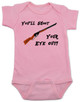Christmas Story Movie Baby Bodysuit, Blue, You'll Shoot Your Eye Out, Christmas Vacation movie baby clothes, funny christmas Bodysuit, funny christmas baby clothes, funny holiday baby Bodysuit, pink