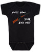 Christmas Story Movie Baby Bodysuit, Blue, You'll Shoot Your Eye Out, Christmas Vacation movie baby clothes, funny christmas Bodysuit, funny christmas baby clothes, funny holiday baby Bodysuit, black