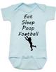 Eat sleep poop football baby Bodysuit, Funny Football Baby Onsie, Sports baby Bodysuits, daddy's football buddy baby Bodysuit, little football fan, future football fan, ready for football baby Bodysuit, blue