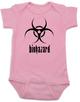 Biohazard baby Bodysuit, harzardous materials in the diaper, funny stinky diaper onsie, Hazmat baby bodysuit, toxic baby poop, pink
