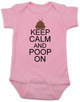 Keep Calm baby Bodysuit, Keep Calm and Poop On baby onsie, funny poop Bodysuit, baby keep calm, pink